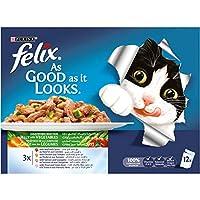 طعام القطط الرطب از جود از ات لوكس من فليكس من الجيلي والخضروات، حجم 100 غرام - عبوة 12 قطعة