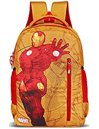 Priority Titan HD Ironman Yellow & Red Casual Backpack|Kid's School Bag
