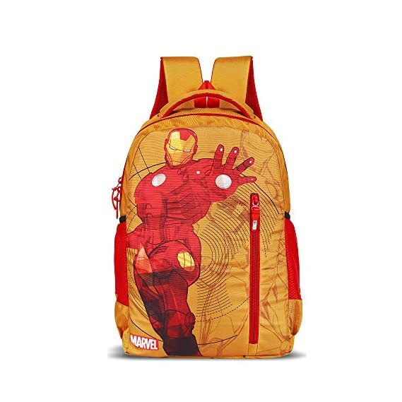 Priority Titan HD Ironman Yellow & Red Casual Backpack|Kid's School Bag