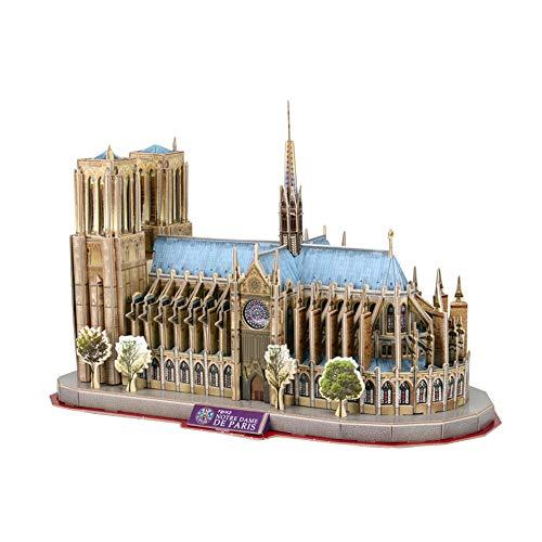 BENPAO Kubisches Paris Notre Dame 3D des puzzlespielspiels puzzlespiele Frankreich-Andenken-Puzzlespiel-pädagogisches Spielzeug