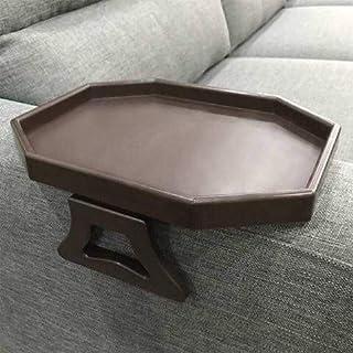 APMAX Sofa-Armlehnen-Tablett, Tisch für Sofa-/Sessellehne, Clip-Tisch/Tablett für Getränke/Fernbedienung/Snacks (Schwarz oder Weiß oder Braun) - braun