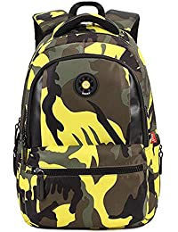 690711626e Comfysail Camouflage Printed Primary School Nylon Backpack - Ideal for 1-6  Grade School Students Boys Girls Daily…