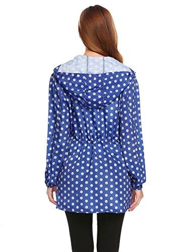 Modfine Damen Funktionsjacke Regenmantel Wasserdicht mit Kapuze Jacke Regenparka PAT1
