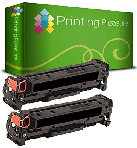 Printing Pleasure 2X Negro Tóner Compatible con HP Laserjet Pro 200 Color M251 n/NW MFP M276 n/NW Canon LBP7100CN LBP7110CW MF8230CN MF8280CW   CF210X 131X 131A 731 CRG731