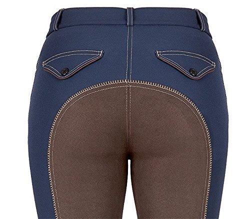 United Sportproducts Germany USG Pantalones de equitación para Mujer Atar tu Caravana Azul Marino/marrón Talla:80