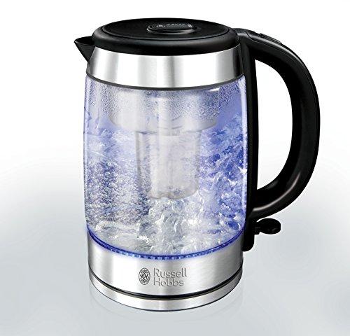 Russell Hobbs Purity Glass Brita Kettle 20760, 3000 W – Blue Illumination