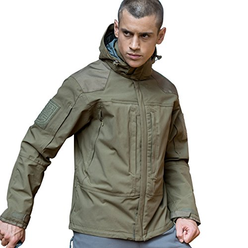 51ukJ0%2BJ2KL. SS500  - Free soldier 3-in-1 Jacket Waterproof Military Tactical Men's Jacket Windproof Coat with Removable Liner