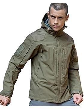Libre Soldado 3en 1chaqueta impermeable militar táctico chaqueta para hombre perchero de pared de cortavientos...
