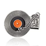 licong Rock Punk Music Disc Lovers Smalto Fonografo TV Spilla Nastro   Vinile Giradischi Badge Spilla