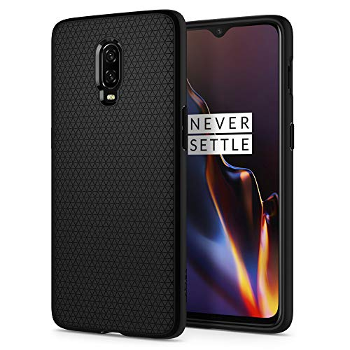 spigen Liquid Air Slim Protection Ergonimic Grip Flexible TPU Phone Case Cover for OnePlus 6T (Black)