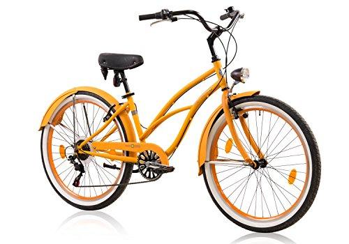 tretwerk DIREKT gute Räder Oceanside Lite Damen Beachcruiser 26 Zoll, Damen-Fahrrad 6 Gang Kettenschaltung