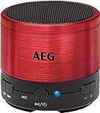 AEG BSS 4826 Bluetooth-Soundsystem/USB/AUX-IN inkl. Freisprecheinrichtung, Akku, Aluminiumgehäuse rot