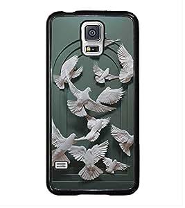 HiFi High Glossy Designer Phone Back Case Cover Samsung Galaxy S5 :: Samsung Galaxy S5 G900I :: Samsung Galaxy S5 G900A G900F G900I G900M G900T G900W8 G900K ( Freedom Bird )