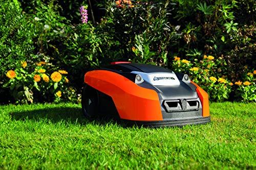 YARD FORCE X60i Mähroboter mit App-Steuerung – Selbstfahrender Rasenmäher Roboter mit Regensensor – Akku Rasenroboter für bis zu 600m² Rasen & 40% Steigung 28 V, schwarz/orange - 4