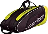 Dunlop Badmintontasche Carlton Pro Player 3 Pockets Thermo Bag, Gelb-Schwarz, One size