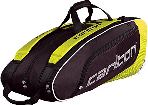 Dunlop Badmintontasche Carlton Pro Player 3 Pockets Thermo Bag Gelb-Schwarz, One size -