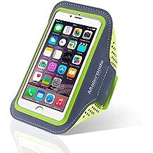 Para iphone 66S Funda de brazalete deportes correr brazo bolsa para Samsung S3S4Xiaomi 4ejercicio Running Senderismo resistente al agua sudor prueba teléfono móvil bolsa de brazo suave correa de muñeca también para otros teléfono móvil, Fruit Green