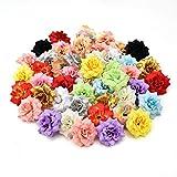 NWSX Fleur Artificiel,Fleurs artificielles, Fausse Fleur,Fleurs artificielles Deco,Rose Artificielle,Deco Mariage, Fleur artificielles Deco Mariage,capitules,30pcs 4cm (Multicolor)