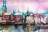 Poster 30 x 20 cm: Lübeck, Blick vom Mühlenteich von