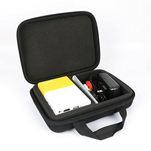 co2CREA Étui de Voyage Rigide Housse Cas pour Deeplee Mini Vidéoprojecteur Portable LED LCD Vidéoprojecteurs Théâtre
