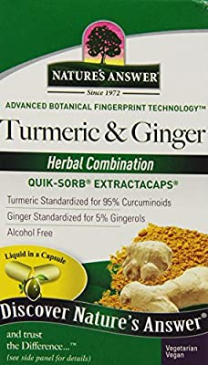 Nature's Answer Turmeric and Ginger, 90 LCAPS by Nature's Answer