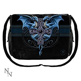Gothic Fantasy Dragon Duo Messenger Bag by Anne Stokes