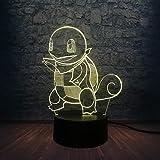 orangeww Nachtlicht 3d Illusion/beleuchtende Kinderlampe/Party Dekoration Lampe / 7 Farbwechsel Fern/kleine Schildkröte