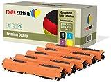 TONER EXPERTE® 5 Premium Toner kompatibel zu HP 126A CE310A CE311A CE312A CE313A für HP Colour Laserjet CP1025 CP1025nw CP1020 M175a M175nw Pro 100 M175 MFP M175a M175nw M275 TopShot M275