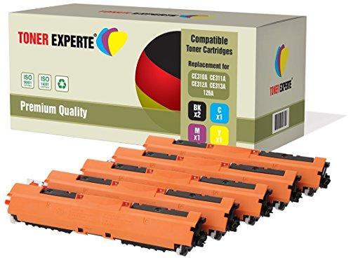 Pack de 5 TONER EXPERTE Compatibles 126A CE310A CE311A CE312A CE313A Cartuchos de Tóner Láser para HP Laserjet CP1025 CP1025nw CP1020 M175a M175nw Pro 100 M175 MFP M175a M175nw M275 TopShot M275