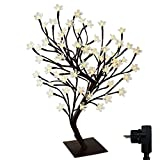 90er LED Baum 60cm Hoch Kirschbaum Lichterbaum Baum Lichterkette Weihnachten Innen (Warmweiß)