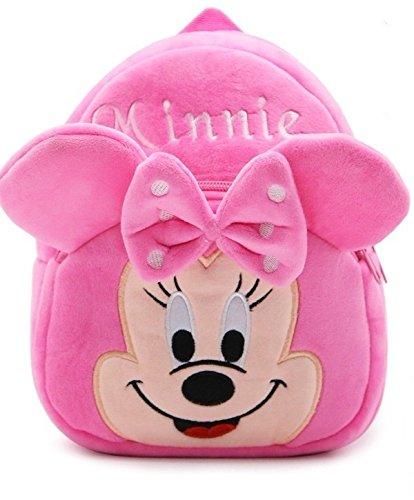 Frantic Kids Velvet Fabric School Bag (2-5 Years, Pink)