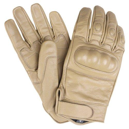 G8DS® Security Tactical Gloves Taktische Handschuhe Einsatzhandschuhe LEDER Knöchelschutz COYOTE M-XXL (XL) (Leder Coyote)