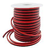 LTRGBW Calibre 18 40FT Sola Tira del Color del LED Cable de Extensión de 18 AWG 2 Clavijas 2 Negro del Color Rojo del Soporte del Cable Conductor de la Cinta de la Lámpara de Iluminación LED de Cinta