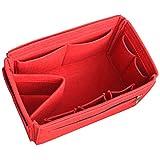 HyFanStr Taschenorganizer Filz Handtaschenordner Tasche in der Tasche Wickeltasche Veranstalter mit Reißverschluss Rot L