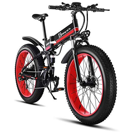1000W Bicicleta eléctrica para Hombre Mountain Mountain Ebike 21 Velocidades 26 Pulgadas Fat Tire Road...