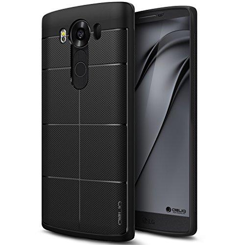 Obliq LG V10 Hülle, [Stoßdämpfung] [Flex Pro] [Schwarz] Thin Slim Fit [Schlagschutz] Bumper Soft TPU Scratch Resist Schutzhülle (für LG V10)