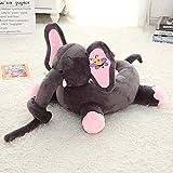 VERCART Sessel Schlafsofa Tier für Kinder In Outdoor Sitzsäcke Kissen Sofa Sofakissen Hocker Sitzkissen Bodenkissen mit Styropor Füllung Möbel 40cm Grau Elefant