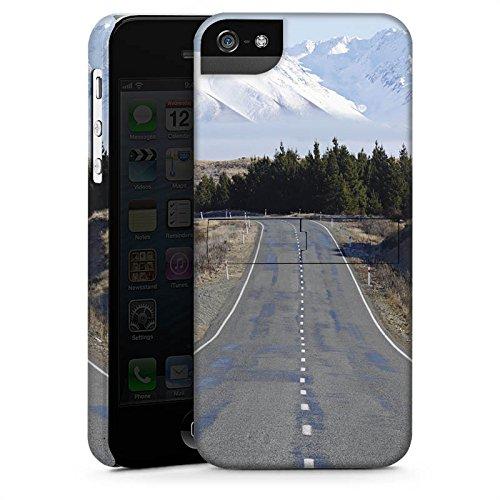 Apple iPhone X Silikon Hülle Case Schutzhülle Landschaft Straße Berge Premium Case StandUp