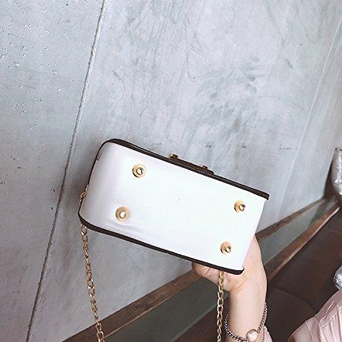 Weibliche mode platz Persönlichkeit paket kleine quadratische damen handtasche Weiß