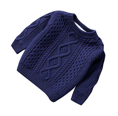 Keephen Baby Mädchen gestrickte Baumwolle Pullover, Rollkragen extra Dicker Pullover Jumper -