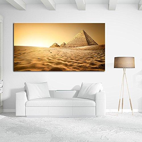 Cuadro Cartón Ecológico Pirámides Egipto | Varias medidas | Decoración Habitación | Multicolor | Diseño Elegante | Cantos Impresos