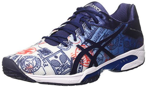 ASICS Gel-Solution Speed 3 L.E. Paris, Scarpe da Ginnastica Uomo, Multicolore (Imperial/Indigo Blue/Vermilion), 42.5 EU