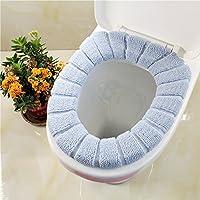 Confezione da 2WC Sedile Cuscino zucca tipo maglia SOLID colore sedile WC universale per seduta tipo Closestool-Super caldo pile-Anello di tenuta, universale Gray