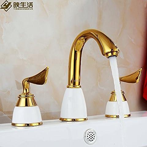 Unione Rubinetto Rubinetto oro rame vasca da bagno rubinetto bacino