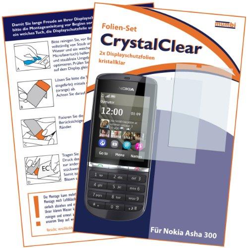 2 x mumbi Displayschutzfolie Nokia Asha 300 Schutzfolie CrystalClear unsichtbar