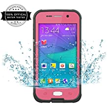 Redpepper Samsung Galaxy S6 Carcasa, IP68 Impermeable Carcasa funda con Protector de Pantalla, anti-agua, anti-polvo, anti-salpicadura, anti-impacto para Samsung Galaxy S6, Rosa