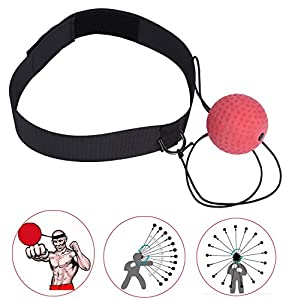 KWOW Boxing Reflex Ball, Portable Boxing Training Speed Ball with Headband for MMA Speed Training Adult/Kids Gift Improve Punch Focus Sport Exercise Practice Fitness Trainer Review 2018