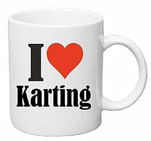 """Tasse de Café .. Tasse à Thé … Coffee Mug """" """"I Love Karting"""" ... Hauteur 9 cm de Diamètre 8 cm Volume 330 ml ... Le cadeau idéal pour leur Partenaire - Collègue - Amis"""