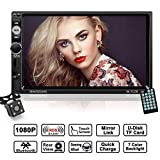2 Din Autoradio, LESHP 7 Zoll HD 1080P Touchscreen Auto Radio mit Rückfahrkamera, MP5 Spieler unterstützt Mirrorlink/Bluetooth / Freisprecheinrichtung/AM / FM/RDS Radio Tuner/USB / TF