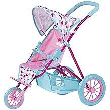 Zapf Creation 824146 - BABY born Tri Pushchair, petrol/rosa